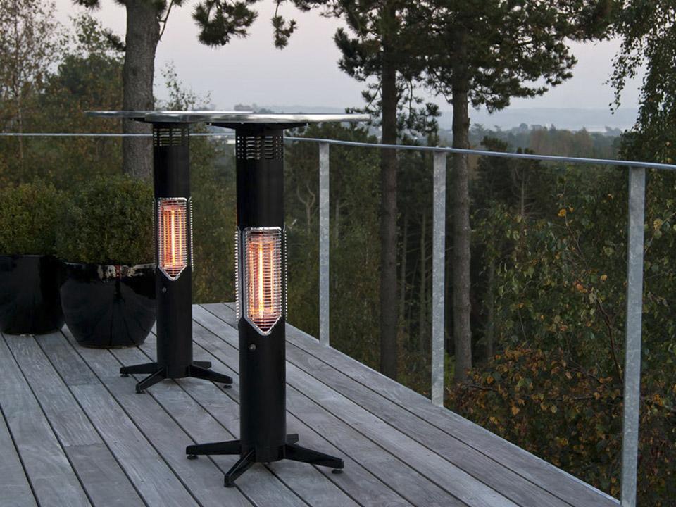 Imus, terrassevarmer, mensa heating, bord varmer, have